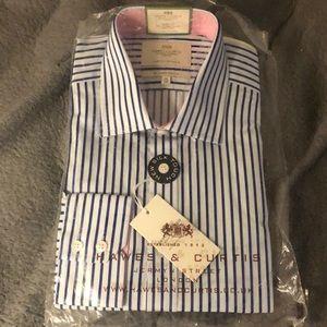 Men's Dress Navy & Blue Slim Fit Shirt - Easy Iron
